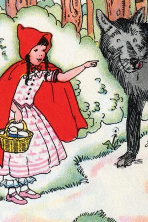 Little Red Riding Hood Tells the Wolf of Her Trip