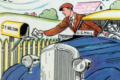 Mail Delivery By Car