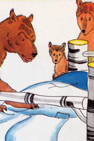 Papa Bear Checks His Bed