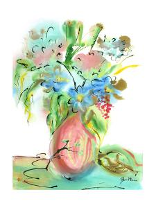 Flower Burst Vase II by Julia Minasian
