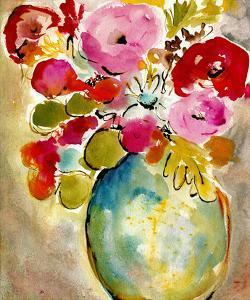 Pastel Vase II by Julia Minasian