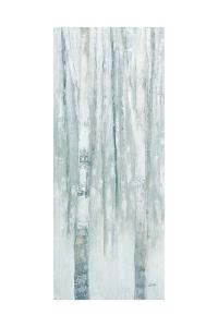 Birches in Winter Blue Gray Panel I by Julia Purinton