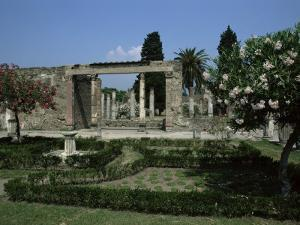 Gardens of Casa Di Fauna, Pompeii, Unesco World Heritage Site, Campania, Italy by Julia Thorne