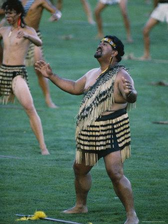 Maoris Perform Traditional Action Songs, Auckland, North Island, New Zealand