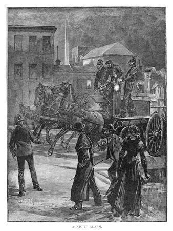 A Night Alarm, 1886