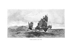Torres Sighting Cape York, 1606 by Julian Ashton