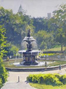 The Bethesda Fountain, Central Park, 1996 by Julian Barrow