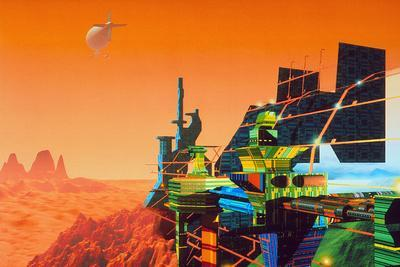 Artwork of Mars Terraforming Greenhouse