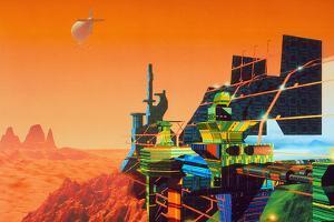 Artwork of Mars Terraforming Greenhouse by Julian Baum