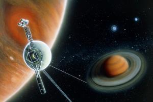 Illustration Symbolising Voyager 2's Journey by Julian Baum