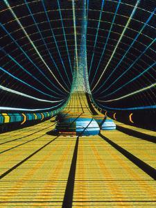 Interior of a Giant Farm Spaceship. by Julian Baum