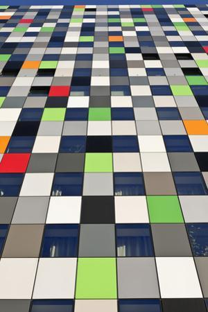 Abstracted Exterior Detail of Casa Confetti Student Housing Building De Uithof Campus Netherlands