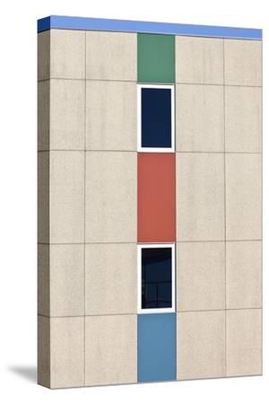 Abstracted Exterior Wall Detail of Student Housing De Uithof Campus Netherlands