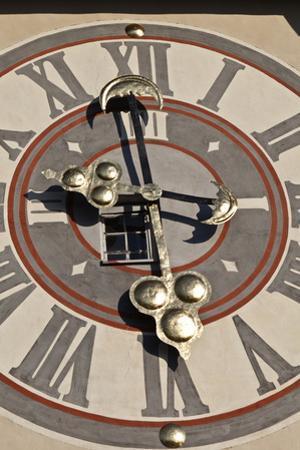 Clock Face of the Graz Schlossberg Clock Tower, Styria, Austria