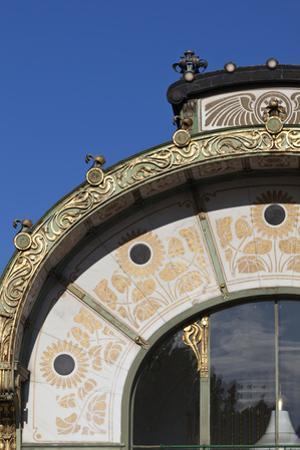 Decorative Sunflower Motifs Adorn Karlsplatz Pavilion Metropolitan Railway Station Vienna Austria
