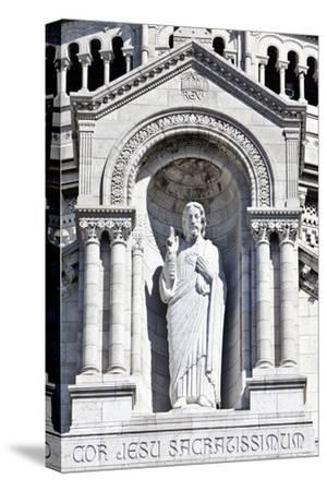 Detail of the Central Portico Statue of Jesus Adorning the Sacre-Coeur Basilica Montmartre France