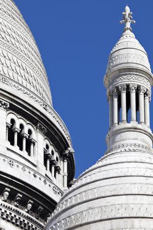 Detail of the Domes of the Sacre-Coeur Basilica, Montmartre, Paris, France