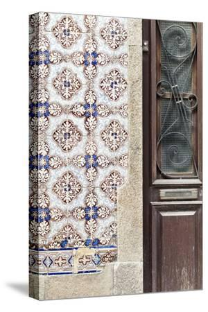 Detail of Traditional Painted Ceramic Azulejos Tiles and Doorway, Ilhavo, Beira Litoral, Portugal