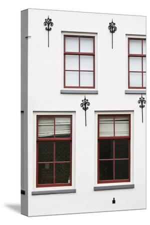 Facade of a Traditional Town House in Utrecht, Netherlands
