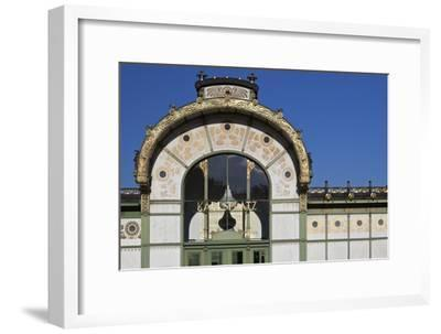 Facade of the Karlsplatz Pavilion Metropolitan Railway Station of 1898, Vienna, Austria