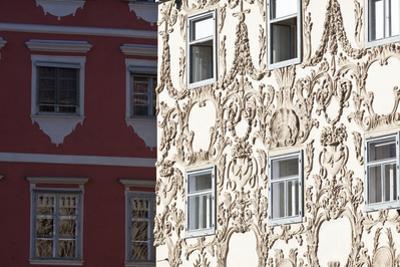 Facade of the Luegghaus Town House Hauptplatz Square