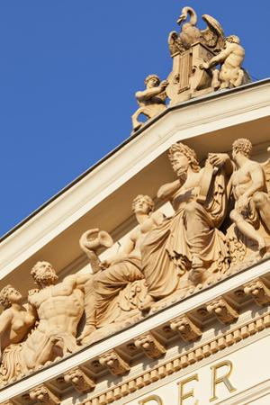 Terracotta Statues Adorn the Upper Main Facade of the Musikverein (1866-9) Karlsplatz Austria