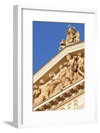 Terracotta Statues Adorn the Upper Main Facade of the Musikverein (1866-9) Karlsplatz Austria