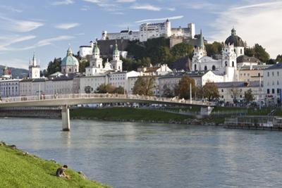 The River Salzach and the Baroque City of Salzburg, Austria