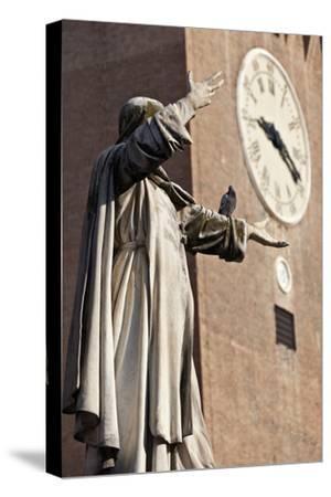 The Statue of Savonarola Outside the Castello Estense Ferrara Emilia-Romagna Italy