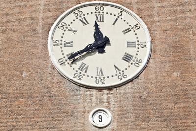 The Watchtower Clock of the Castello Estense Ferrara Emilia-Romagna Italy Begun 1385