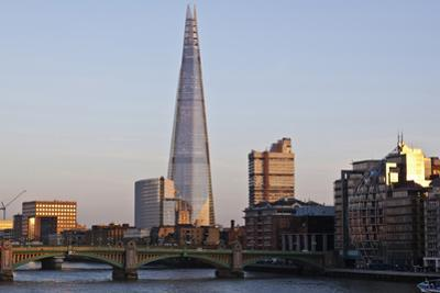 View across the Thames of the Shard, London Bridge Tower, Se1, London
