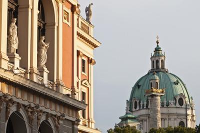 Wiener Musikverein (1866-9) and Karlskirche, Vienna, Austria