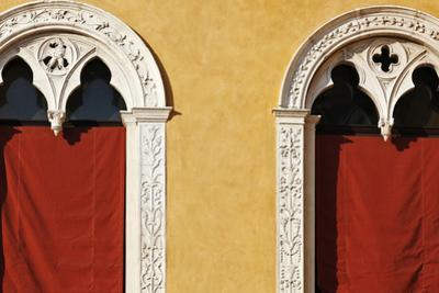 Window Detail of Palazzo Municipale (Town Hall) Ferrara Emilia-Romagna Italy