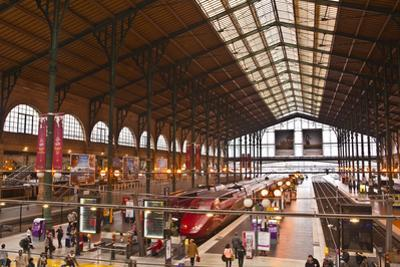 A Busy Gare Du Nord Station in Paris, France, Europe