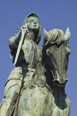 A Statue of Joan of Arc Riding Her Horse in Place Du Martroi, Orleans, Loiret, France, Europe by Julian Elliott