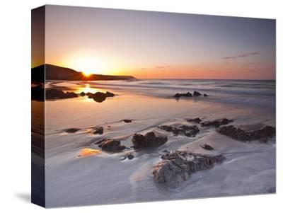 Dawn on Kennack Sands on the Lizard Peninsula in Cornwall, England, United Kingdom, Europe