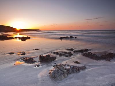 Dawn on Kennack Sands on the Lizard Peninsula in Cornwall, England, United Kingdom, Europe by Julian Elliott
