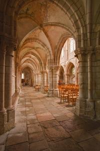 Looking Down an Aisle in the Church of Notre Dame, Saint Pere, Yonne, Burgundy, France, Europe by Julian Elliott