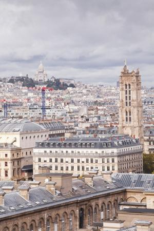 Looking Out over the Rooftops of Paris, France, Europe by Julian Elliott