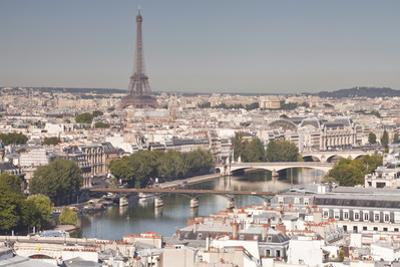 Looking over the Rooftops of Paris from Tour Saint Jacques to the Eiffel Tower by Julian Elliott