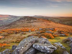 Looking Towards Honeybag Tor in Dartmoor National Park, Devon, England, United Kingdom, Europe by Julian Elliott