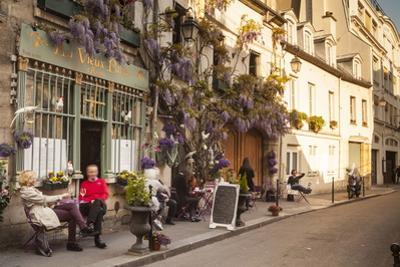 People Outside a Cafe on Ile De La Cite, Paris, France, Europe by Julian Elliott