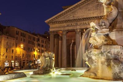 Piazza Della Rotonda and the Pantheon, Rome, Lazio, Italy, Europe by Julian Elliott