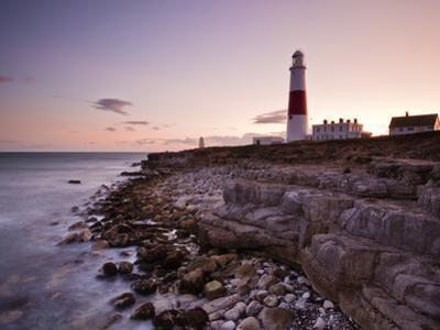 Portland Bill Lighthouse at Sunset, Dorset, England, United Kingdom, Europe by Julian Elliott
