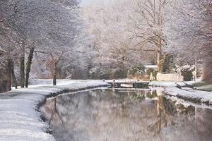 The Canal De Berry after a Snow Shower, Loir-Et-Cher, Centre, France, Europe by Julian Elliott