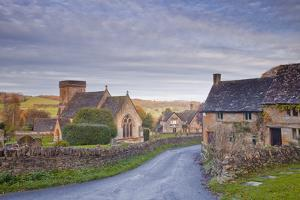 The Church of St. Barnabas in the Cotswold Village of Snowshill by Julian Elliott