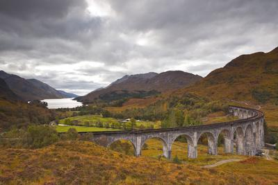 The Magnificent Glenfinnan Viaduct in the Scottish Highlands, Argyll and Bute, Scotland, UK