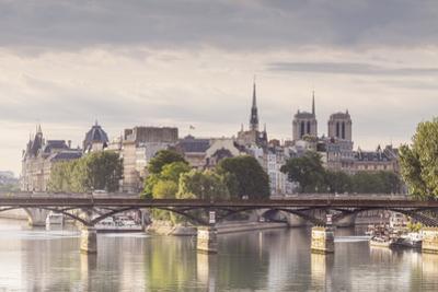 The Pont Des Arts with Ile De La Cite in the Background, Paris, France, Europe by Julian Elliott
