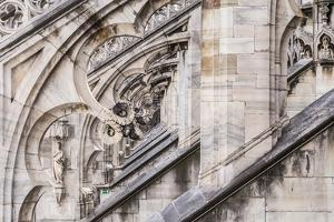 The Roof of Duomo Di Milano (Milan Cathedral), Milan, Lombardy, Italy, Europe by Julian Elliott