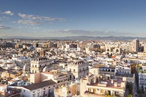The Rooftops of Valencia in Spain, Europe by Julian Elliott